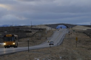 Trappers' Point overpass for pronghorn migration in Wyoming.
