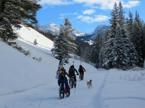 Cover more ground with a snowbike approach to backcountry skiing
